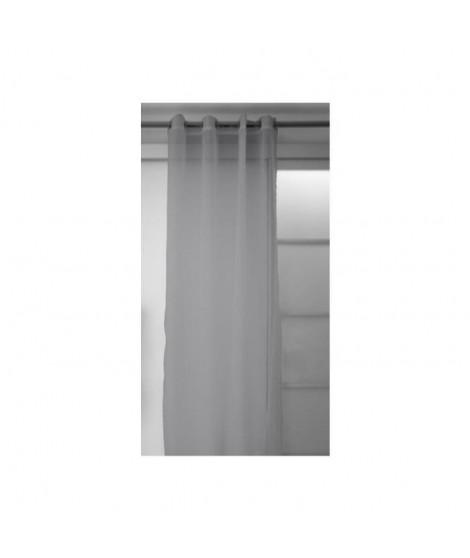 SOLEIL D'OCRE Voilage a oeillets Panama 140x250 cm gris clair