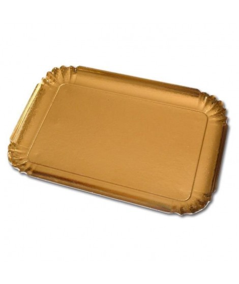 GUARDINI Lot de 3 plateaux en carton rectangulaire doré