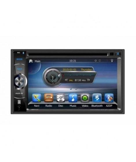 "TAKARA GPV1826BT Autoradio 2DIN DVD GPS USB Bluetooth 6,2"""
