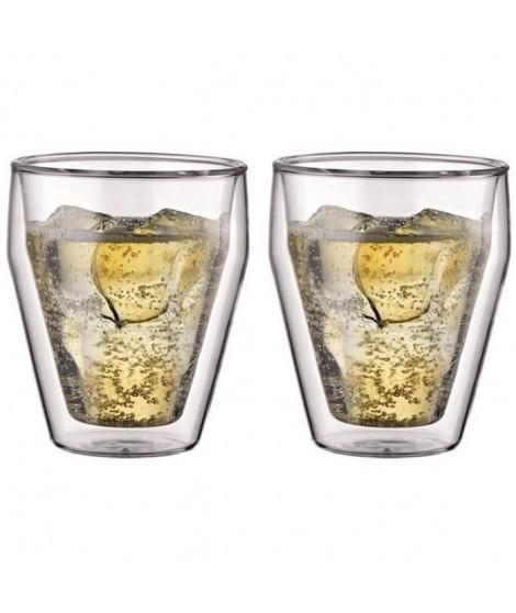BODUM Set de 2 verres TITLIS double paroi empilable 0,25L