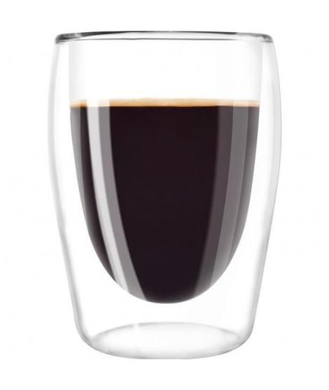 MELITTA Lot de 2 verres en borosilicate pour café long 200 ml transparent