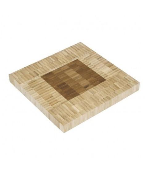 Dessous de plat en bambou de forme carrée