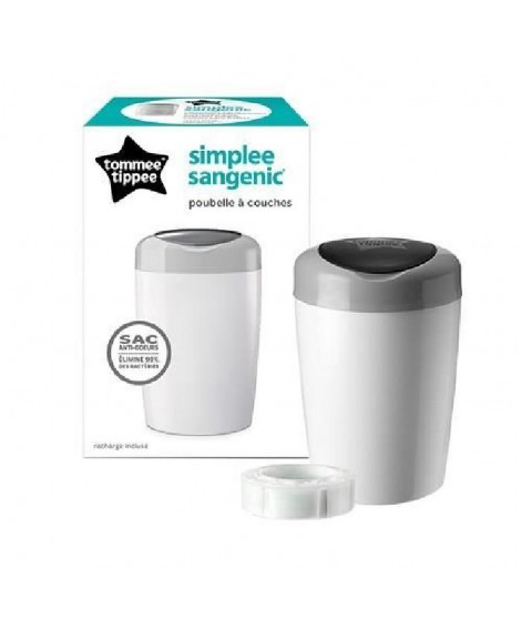 TOMMEE TIPPEE Sangenic Bac A Couches Simplee Gris et Blanc