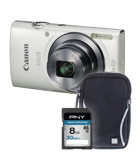 IXUS 160 blanc + sacoche + carte 8Go - Appareil photo compact