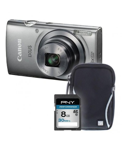IXUS 160 SI+sacoche+carte 8Go -  Appareil photo compact
