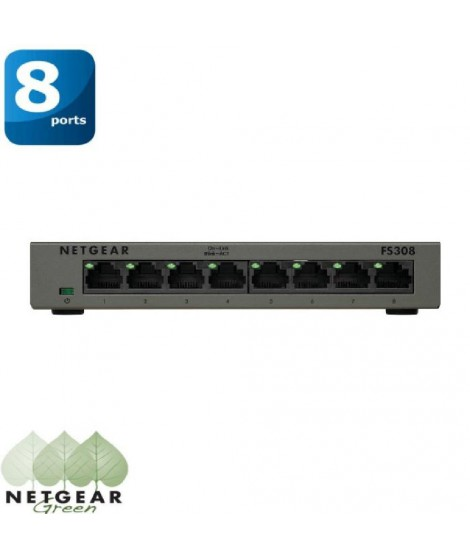 Netgear switch 8 ports Ethernet  Métal FS308