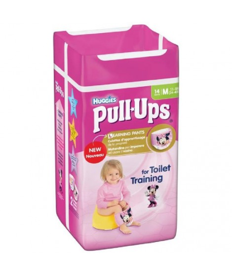 HUGGIES Pull-Ups Girl Taille 5 11-18kg couches x14