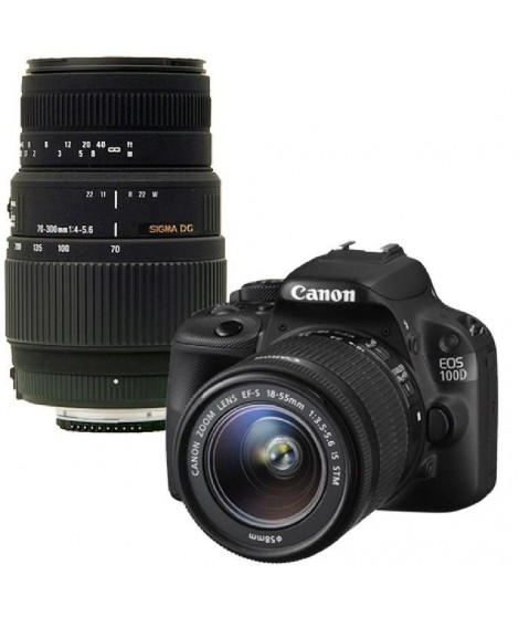 CANON EOS 100D Reflex + 18-55 IS STM + SIGMA 70-300mm
