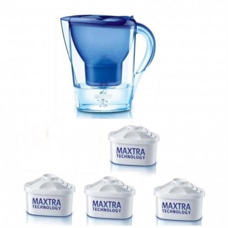 BRITA 1 carafe MARELLA BLEUE + 4 Cartouches