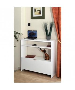 SHoeS Console meuble a chaussures 93 cm - Blanc Haute Brillance