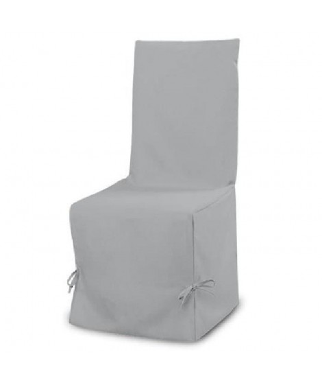 SOLEIL D'OCRE Housse de chaise Panama 50 cm gris