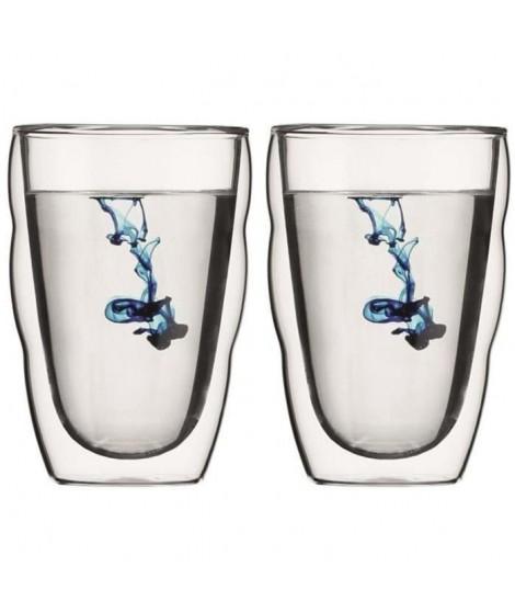 BODUM Set de 2 verres PILATUS double paroi 0,35L