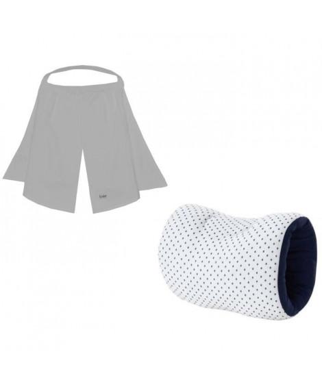 CANDIDE Brassard en jersey étoile- marine et voile d'allaitement gris
