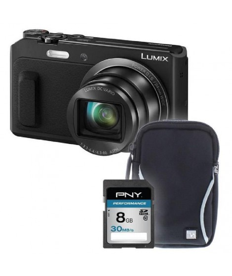 PANASONIC TZ57 + sacoche + carte 8Go -  Appareil photo compact