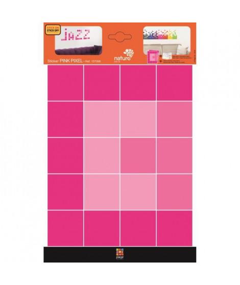 PLAGE Stickers adhésif mural Taille S - Pink pixel2 planches 29,7 x 21 cm, divers motifs