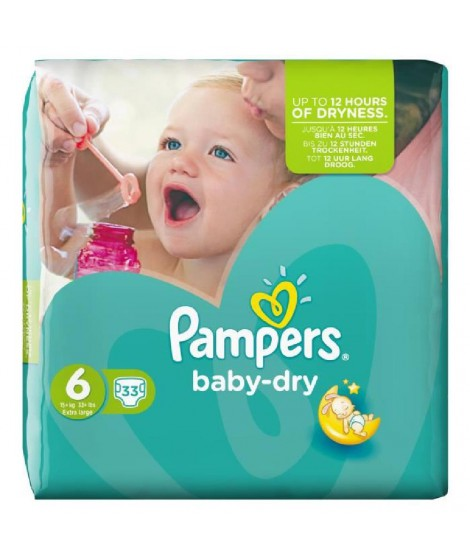 PAMPERS Baby Dry Taille 6 des 15 kg 33 couches