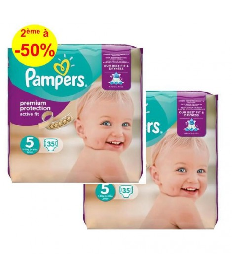 Pampers ActiveFit T5, 11 a 23kg, 2x35, 70 couches