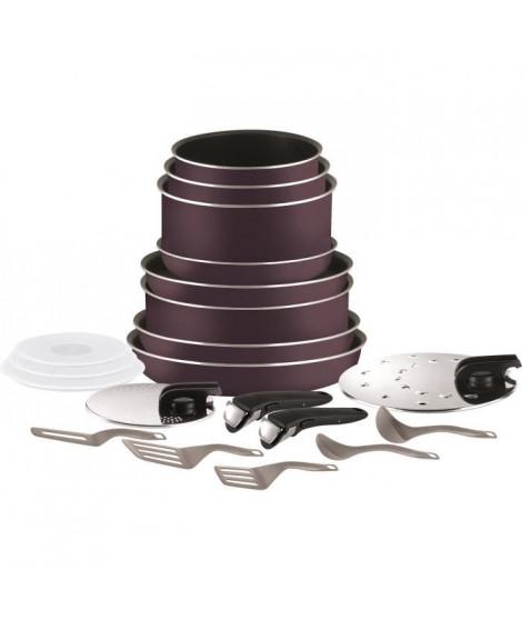 TEFAL INGENIO ESSENTIAL Batterie de cuisine 20 pieces L2029702 16-18-20-24-26-28cm Tous feux sauf induction