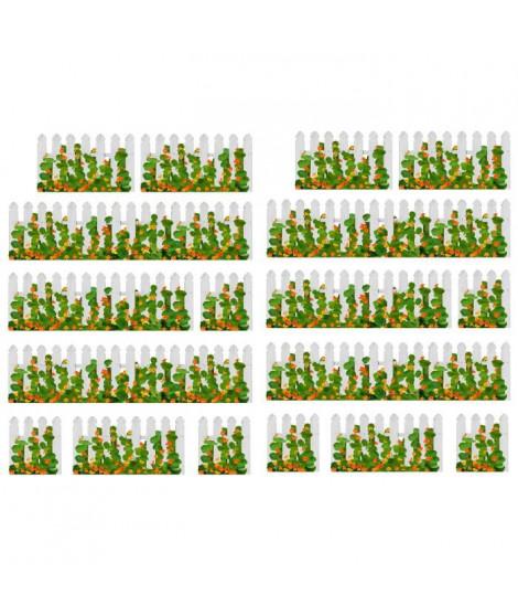 CAPUCINE Stickers muraux fleurs 2 planches 21x29.7cm
