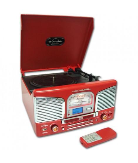INOVALLEY RETRO-03 Platine Vinyle tourne disque USB rouge