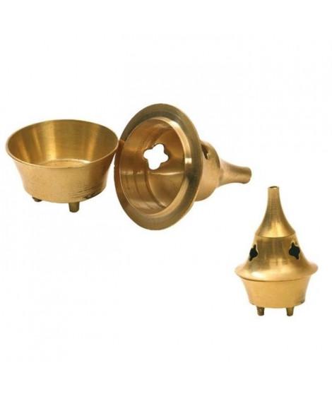 Brûle cône en cuivre brun