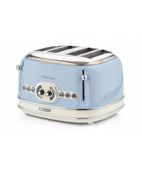 ARIETE 156/3 Grille pain vintage - 4 fentes - Bleu