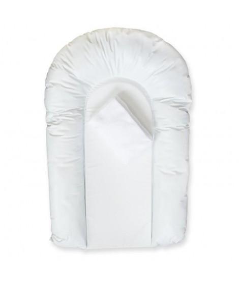 DOUX NID LOT 1 matelas a langer PVC CONFORT forme U + 1 housse éponge bouclette 50x75 cm Blanc