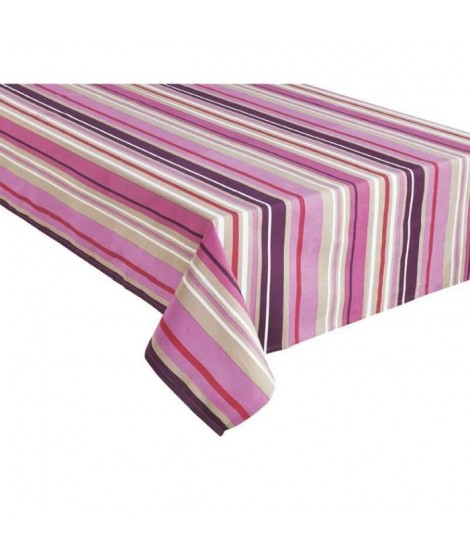 HOME STORIES Nappe en coton Passion 150x250 cm rose