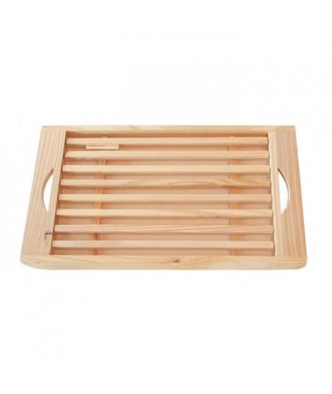 FRANDIS Planche pain + ramasse-miettes en bois pin 39,5x20x3cm marron