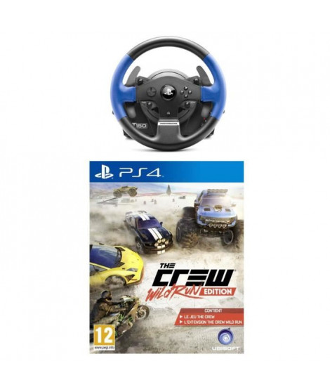 Pack Volant T150 RS + The Crew Wild Run Jeu PS4