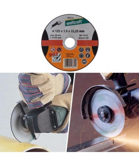 WOLFCRAFT Disque a tronçonner l'inox ø 125mm alésage 22,2mm et épaisseur de disque 1mm