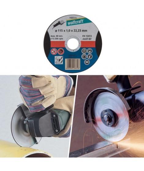 WOLFCRAFT Disque a tronçonner l'aluminium ø 115mm alésage 22,2mm et épaisseur de disque 1,5mm