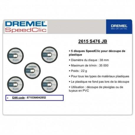DREMEL 5 disques ez speedclic 38mm ép 1.2 mm/pvc