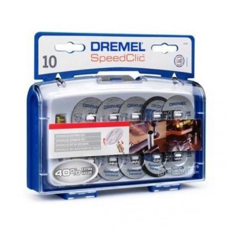 DREMEL 10 disques a tronconner+ adapt ez speedclic