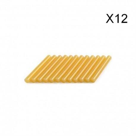 DREMEL Lot 12 bâtons colle spéciale bois 11mm 195°