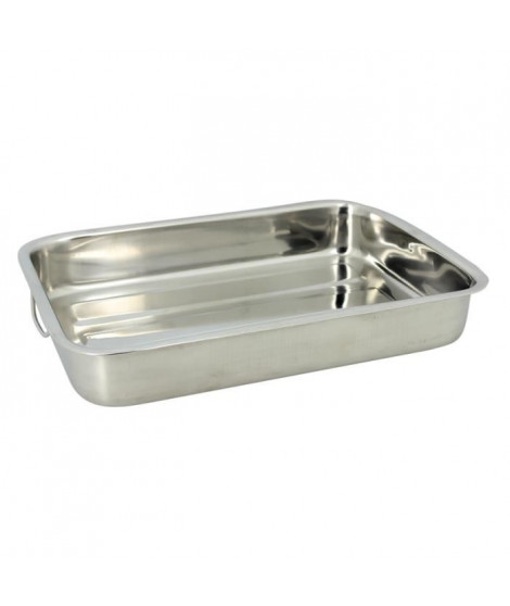 THE KITCHENETTE Plat rectangulaire 40x28cm inox