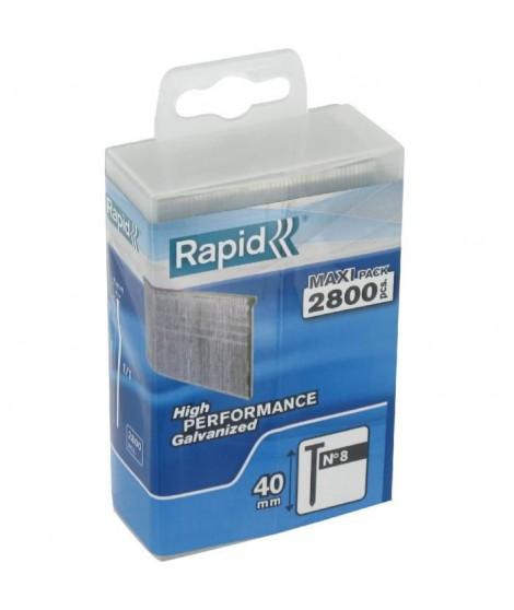 RAPID 2800 pointes n°8 Rapid Agraf 40mm