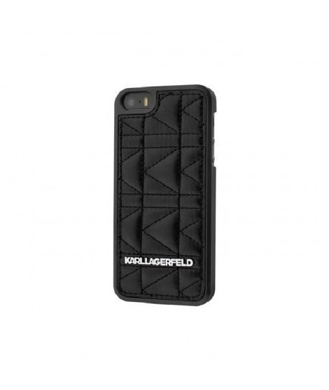 KARL LAGERFELD COQUE KUILTED NOIRE POUR APPLE IPHONE 6+/6S+