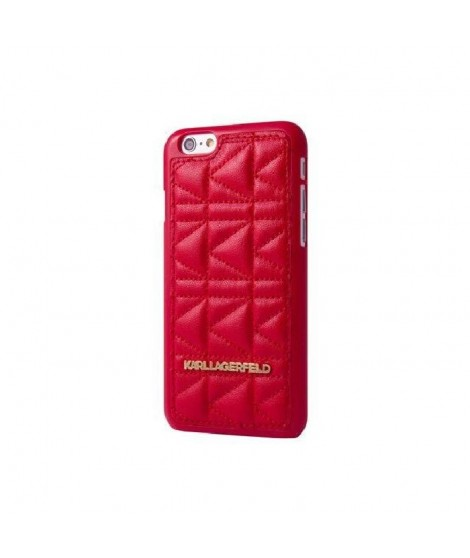 KARL LAGERFELD COQUE KUILTED ROUGE POUR APPLE IPHONE 6+/6S+