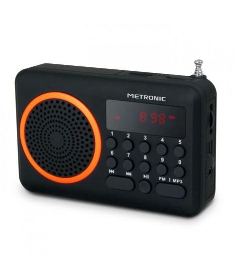 MET 477204 Radio portable FM Orange