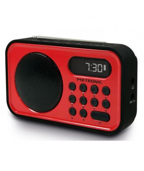 MET 477221 Radio FM Rouge