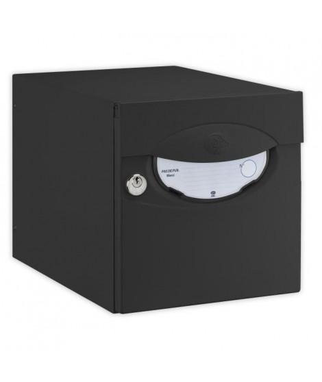 DECAYEUX Boîte aux lettres Iguane simple face noir ral 9005