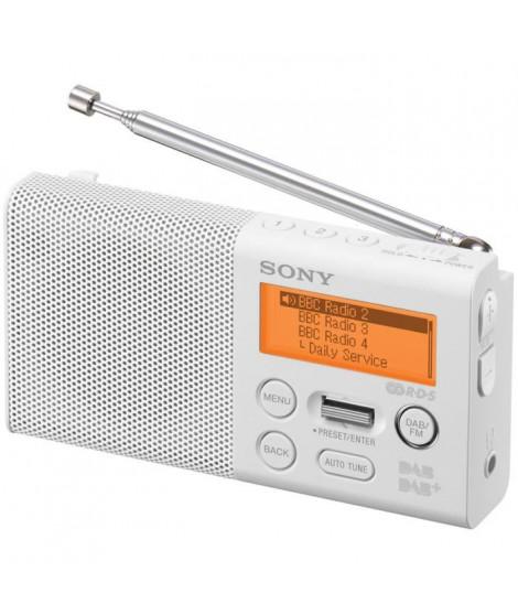SONY XDR-P1DBPB Radio portable compacte FM + DAB - Blanc