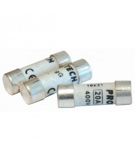 VOLTMAN Pack 3 Fusibles avec voyant de fusion 10,3 x 31,5 mm - 20 A - 400V