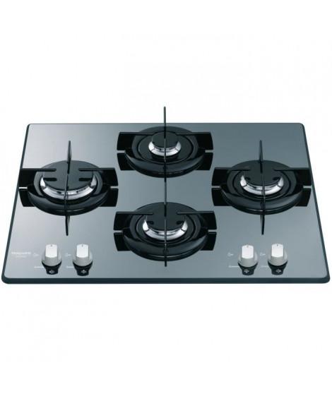 HOTPOINT FRDD 642 HA(ICE) Table de cuisson gaz-4 foyers-7,3kW-L60 x P 51cm-Revetement verre-Noir