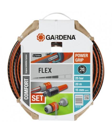 GARDENA Tuyau d'arrosage Flex 20m Ø15 mm + lance et access