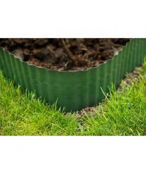 Bordure de gazon H20cm x L9m en polyéthylene vert