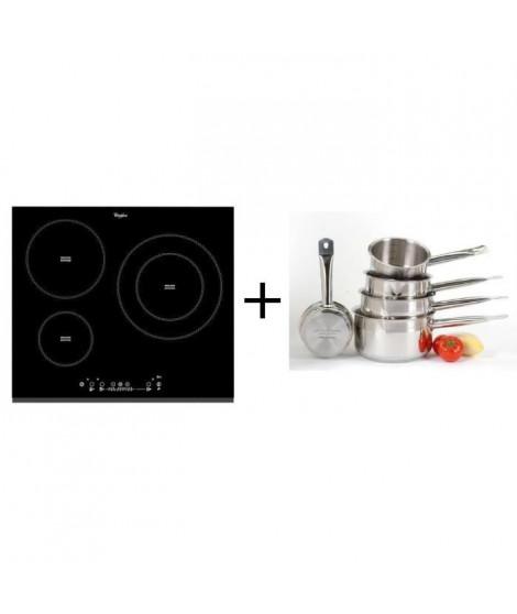 Pack cuisson Whirlpool ACM860BF-Table de cuisson induction-3 zones-7000 W-L58 x P51 cm + ART&CUISINE Set 5 pieces tous feux