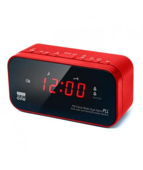 MUSE CR 120 R Radio réveil double alarme Rouge