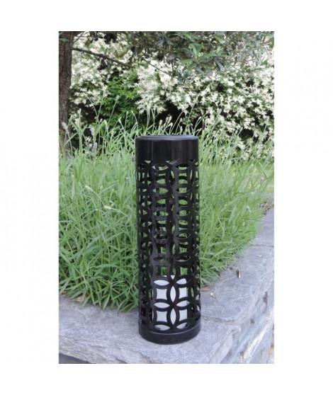 MUNDUS Lanterne solaire Otto en métal et plastique Ø10 x H 32,5 cm - Noir